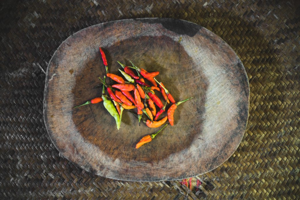 Small Bird's Eye Chillies to be used in Pad Krapao
